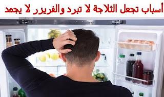 أسباب تجعل الثلاجة لا تبرد والفريزر لا يجمد