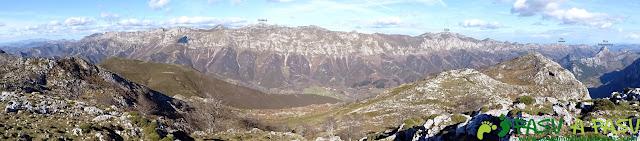 Sierra de Juan Robre: Panorámica sobre el Cuera