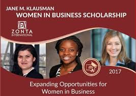 Zonta International Foundation Jane M Klausman Women Business Scholarship 2020 for International Students
