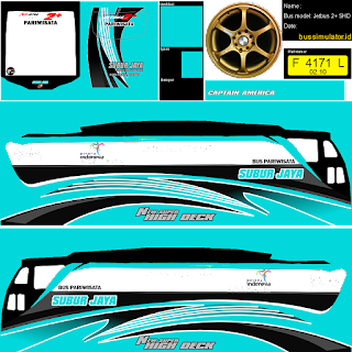 Stiker atau Livery Bus Simulator Indonesia HD