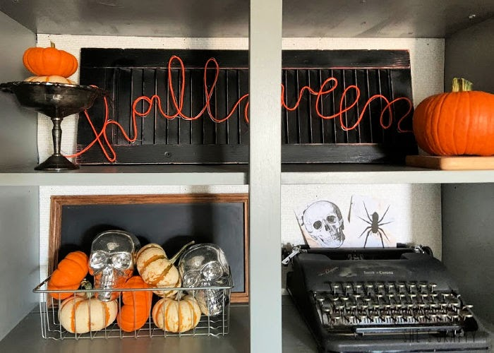 Halloween Home Tour - Halloween neon light  |  She's Crafty