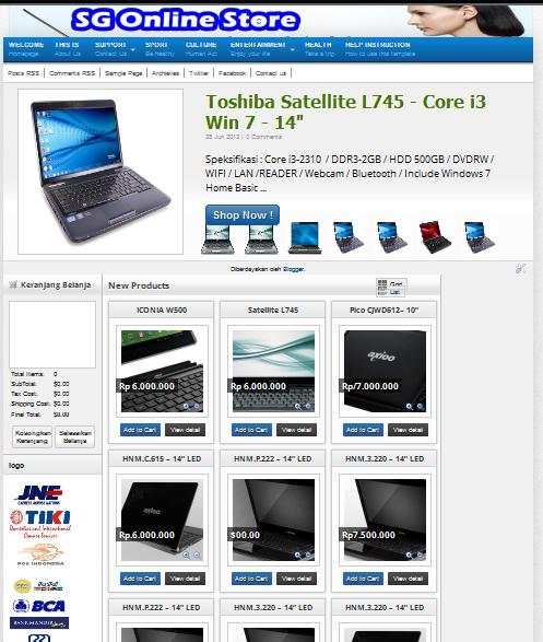 laptop online store blogger