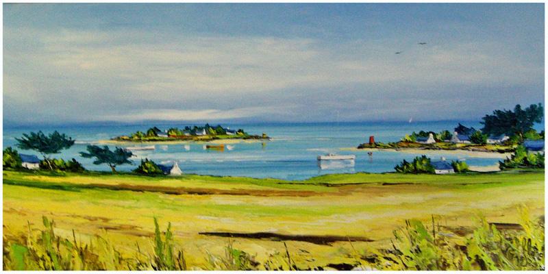 Verão - Frédéric Flanet e suas belas pinturas com paisagem de praias