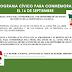 PROGRAMA CÍVICO PARA CONMEMORAR EL 16 DE SEPTIEMBRE.