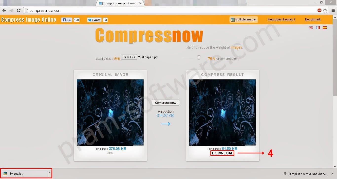 Cara Compress Gambar Secara Online  Duosia