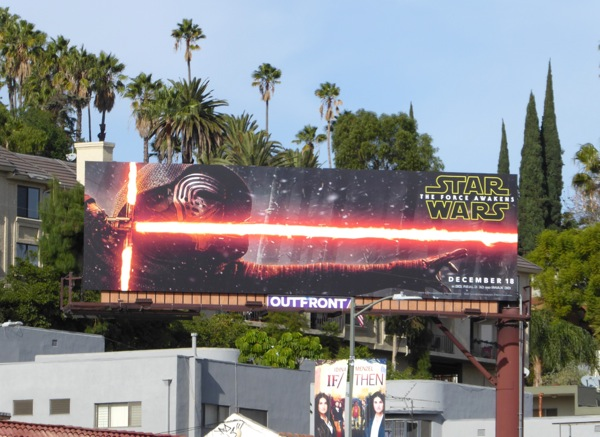 Kylo Ren Star Wars Force Awakens billboard