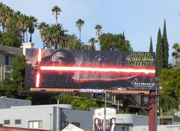 Kylo Ren Star Wars Force Awakens billboard