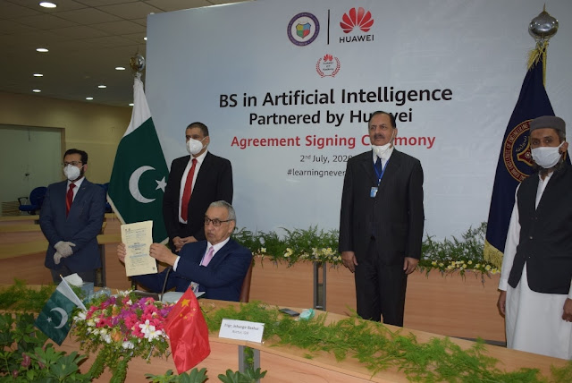 Huawei Pakistan & GIK Sign Agreement for BS in AI Partnered by Huawei