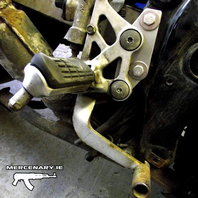 Mercenary Garage - Honda CBR1000F - Lower Peg Modification