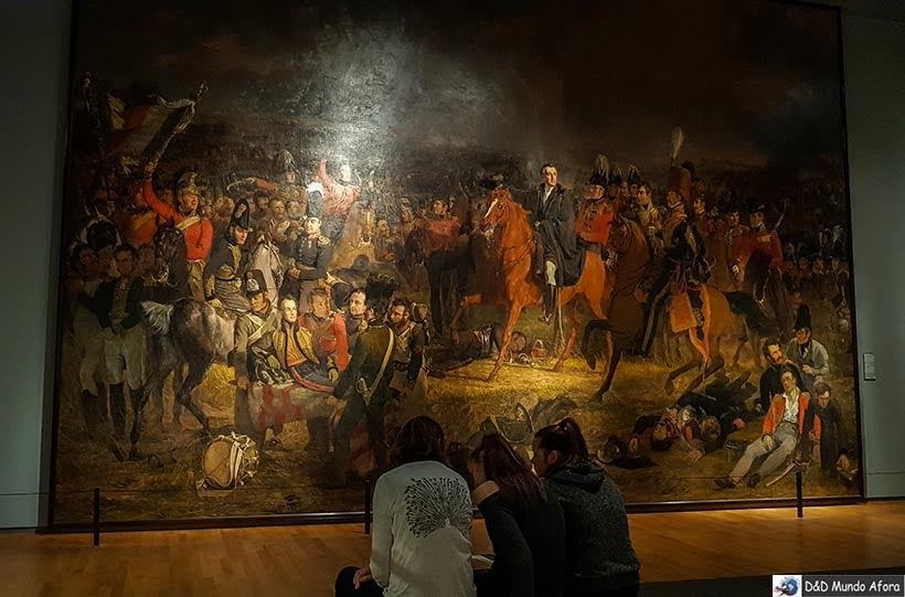 Tela A batalha de waterloo de Jan Willem Pieneman - Como visitar o Museu Rijksmuseum em Amsterdam
