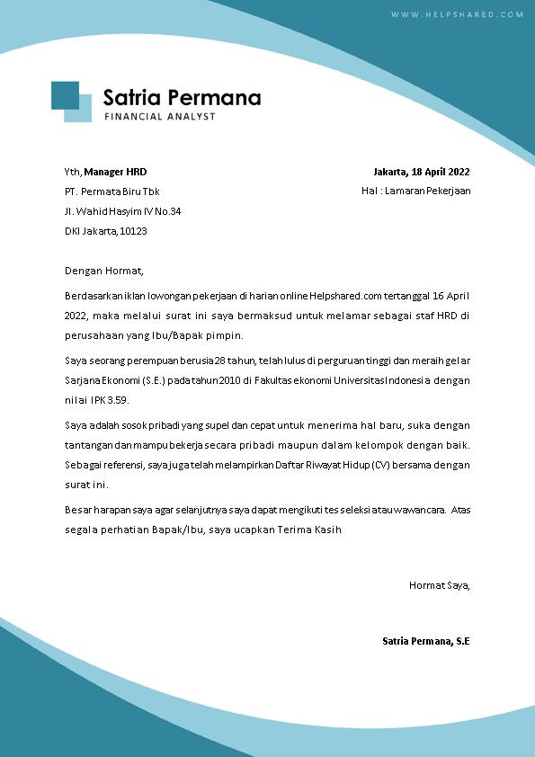Kop Surat Lamaran Kerja 30