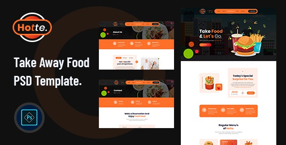 Best Take Away Food PSD Template