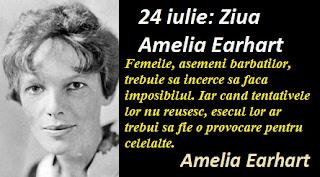 24 iulie: Ziua Amelia Earhart