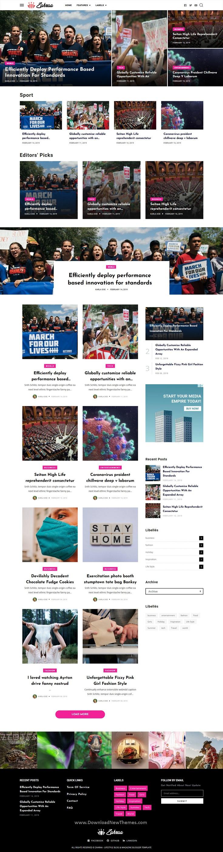 Lifestyle Blog & Magazine Blogger Template