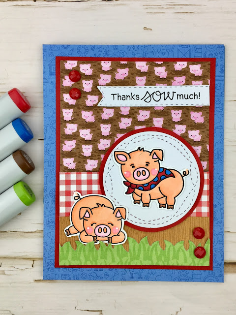Thanks SOW much buy Meghan features Oink by Newton's Nook Designs; #newtonsnook, #inkypaws, #cardmaking