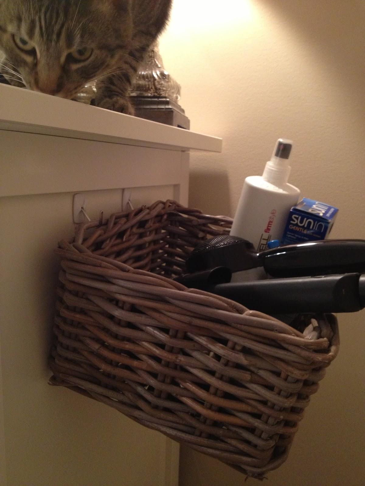 Emma Courtney Diy Hair Dryer Straightener Storage Solution