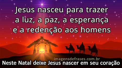 neste Natal, deixe Jesus nascer em seu coração