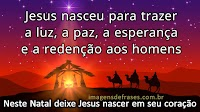 Frases de Feliz Natal, Nascimento de Jesus