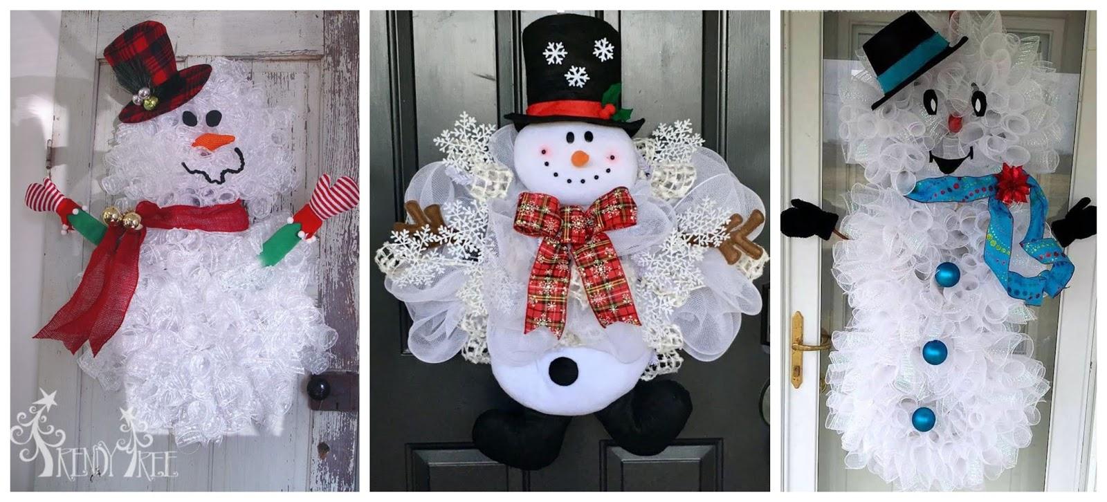 10 Ideas Para Decorar La Puerta En Navidad Con Muñecos De