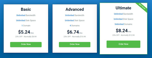 all 3 shared hosting plans of hostwinds
