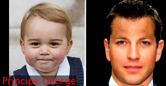 Nova tecnologia prevê a aparência de crianças quando crescerem - Príncipe George da Inglaterra