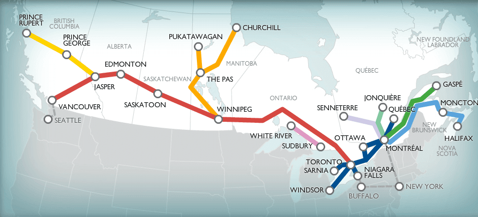 The Canadian; 4,466 kilometers