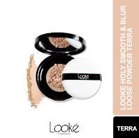 Looke Holy Smooth & Blur Loose Powder - Terra