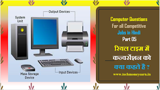 Computer Questions for all competitive jobs in Hindi Part 05
