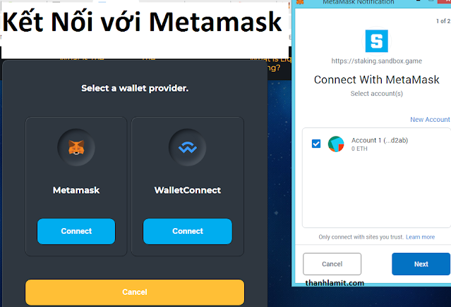 Connect to metamask wallet