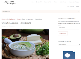 Screen shot for Laylita's version of repe soup
