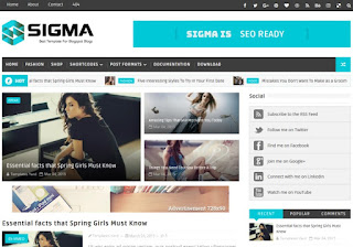 Sigma Blogger Template Free Download