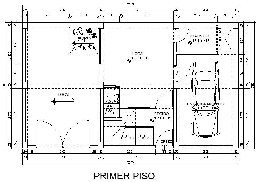 Planos De Una Casa Planos De Una Casa De 12m X 7m