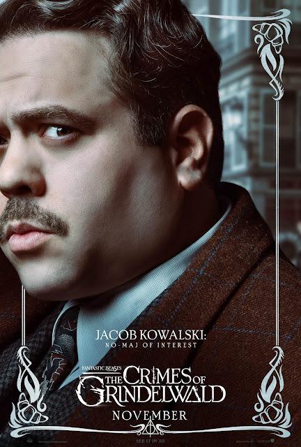 Pôsteres dos personagens de 'Os Crimes de Grindelwald' são divulgados | Jacob Kowalski | Ordem da Fênix Brasileira