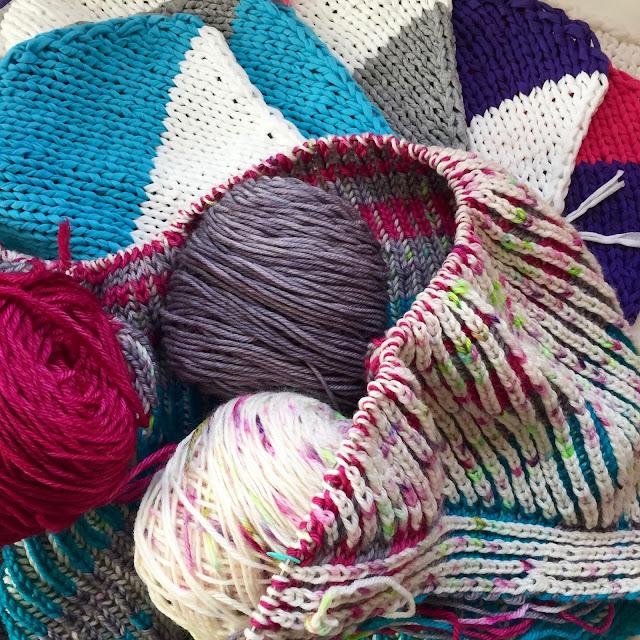 knitting, brioche knitting, wips