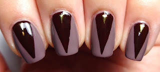 Red Triangle Nail Art