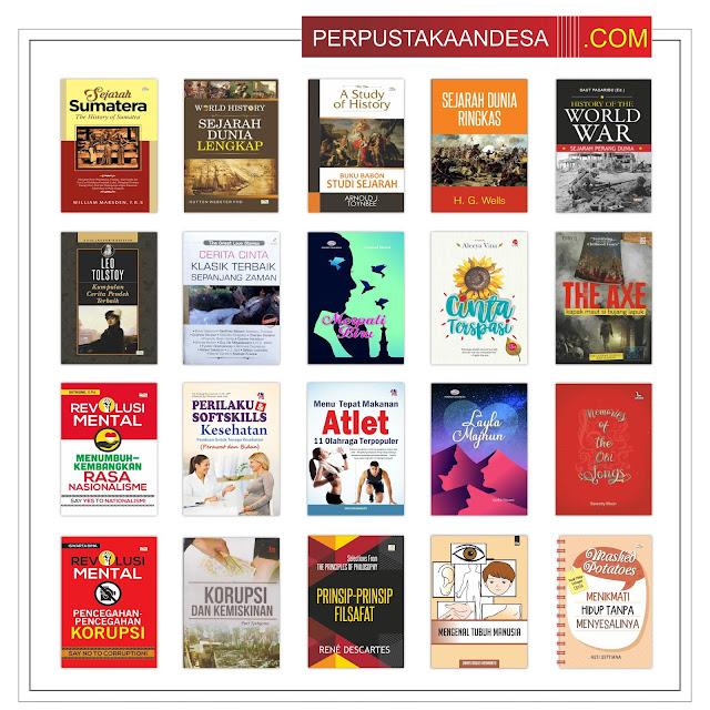 Contoh RAB Pengadaan Buku Perpustakaan Desa Kabupaten Bangkalan Paket 10 Juta