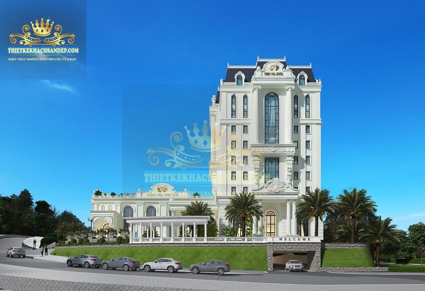 Hình ảnh: Vẻ đẹp tinh tế của kiến trúc Pháp trong tổ hợp thiết kế nhà hàng khách sạn 4 sao Thiên Nga