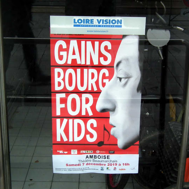 Poster for Gainsbourg for Kids, Tours.  Indre et Loire, France. Photographed by Susan Walter. Tour the Loire Valley with a classic car and a private guide.