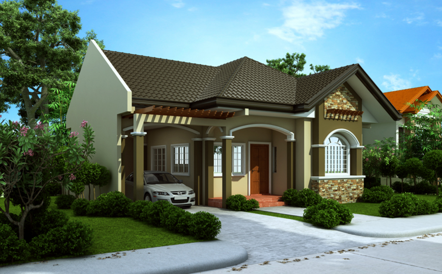 This small beautiful house and interior design bahay ofw for Attractive house designs