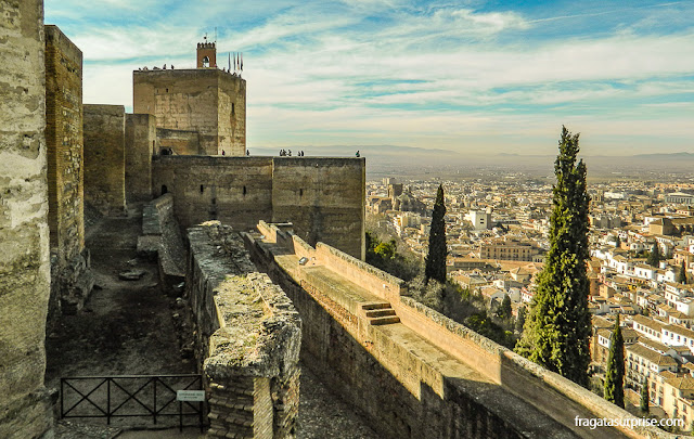 Torre de la Vela, na Alcazaba da Alhambra