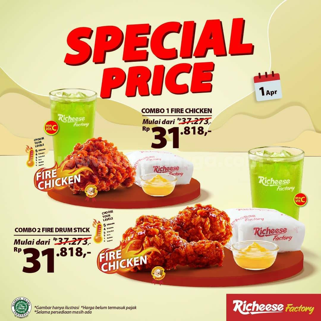 Richeese Factory Promo Special Price mulai dari Rp 4.545