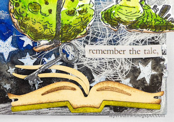 Layers of ink - Fantasy Dragon Tag by Anna-Karin Evaldsson. Made with Tim Holtz exclusive STAMPtember set.