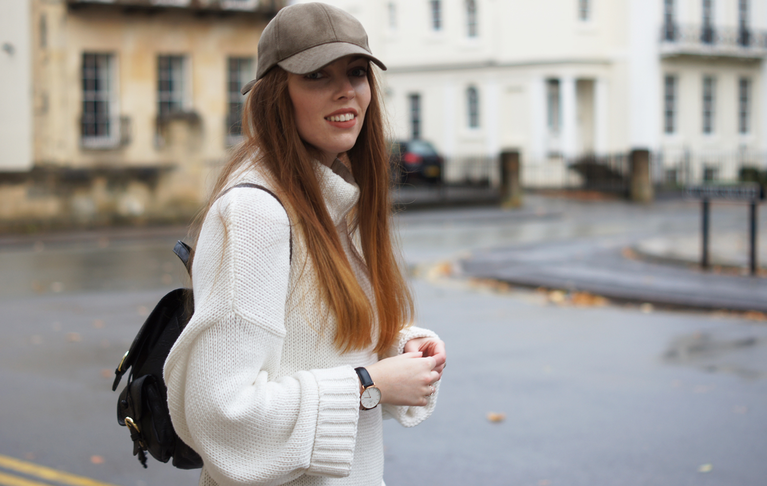 oversized white knit h&m