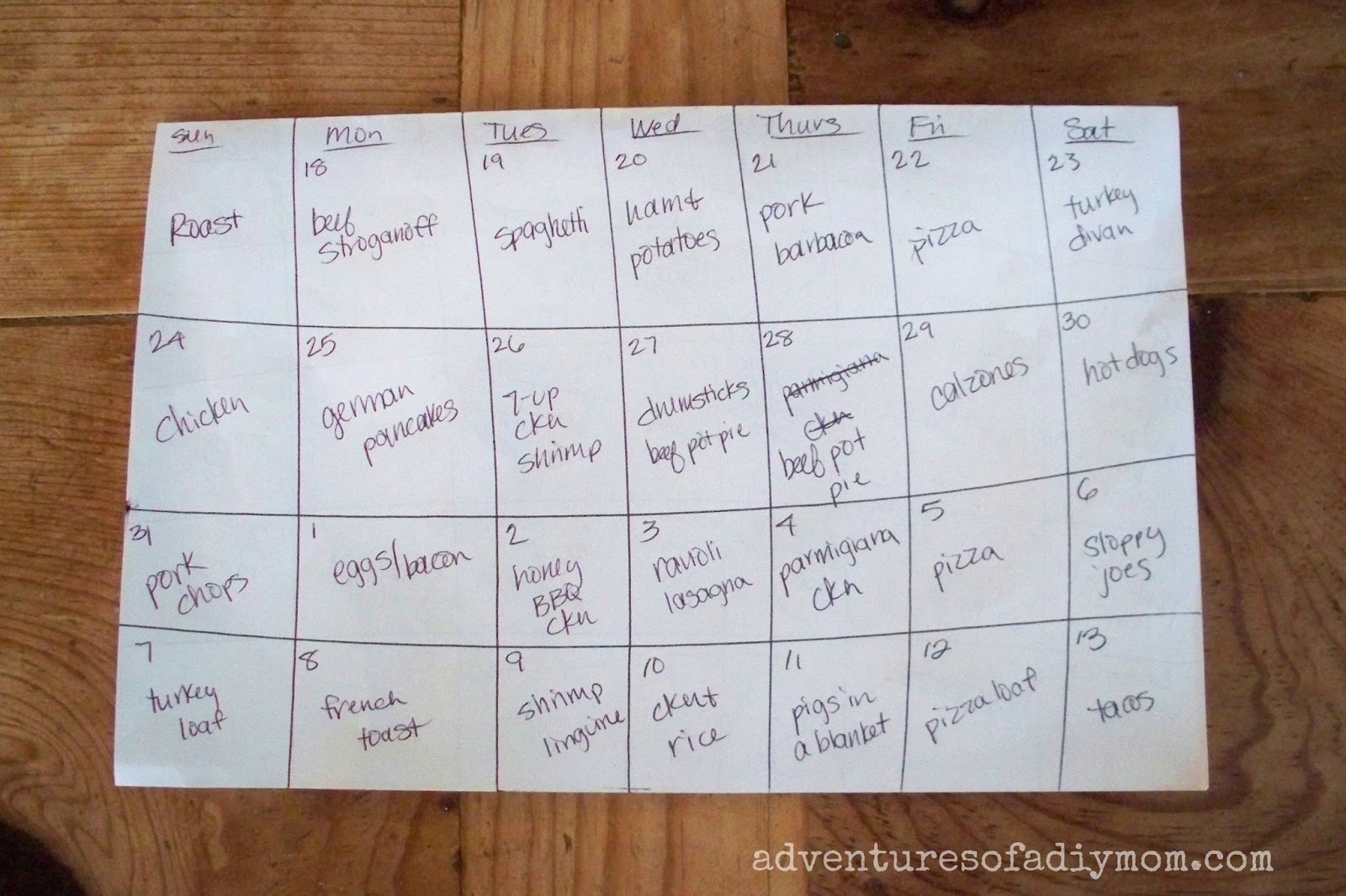 Tips on Running a Household: Menu Planning