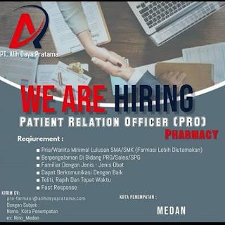 Patient Relation Officer di PT Alih Daya Pratama