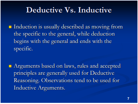 What is the difference between deductive