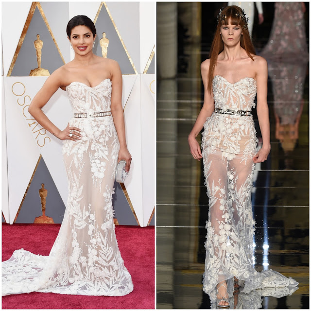WHO WORE WHAT?.....88th Annual Academy Awards: Priyanka Chopra in Zuhair Murad Haute Couture S/S 2016