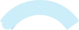 Wrappers para Cupcake para Imprimir Gratis de Corona en Fondo Celeste.