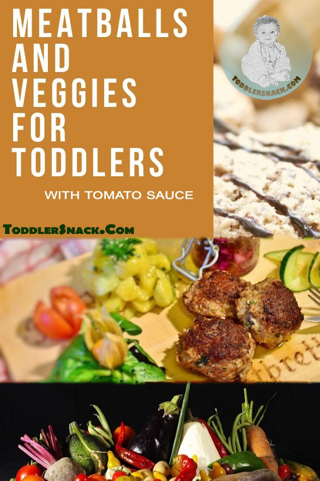Toddler Meatballs with vegetables and tomato sauce