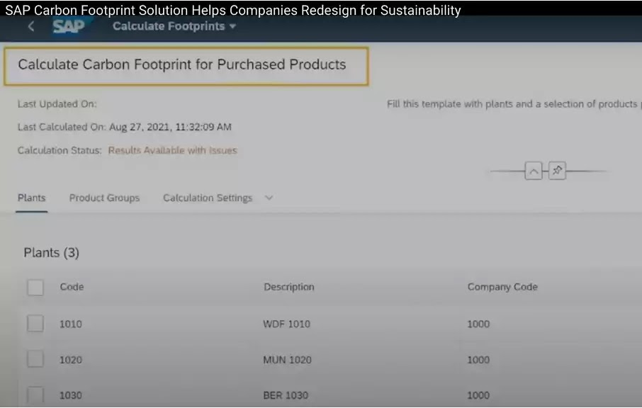 SAP Carbon Footprint Solution Helps Companies Redesign for Sustainability